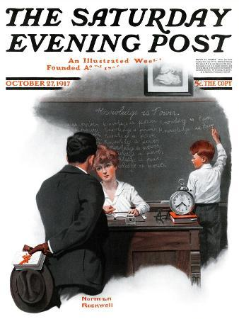 norman-rockwell-knowledge-is-power-saturday-evening-post-cover-october-27-1917
