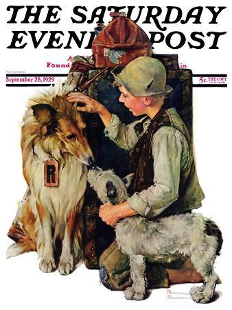 norman-rockwell-making-friends-or-raleigh-rockwell-saturday-evening-post-cover-september-28-1929
