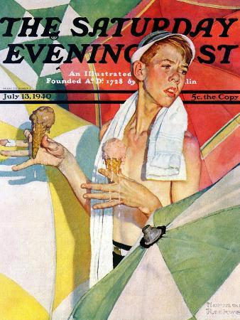 norman-rockwell-melting-ice-cream-or-joys-of-summer-saturday-evening-post-cover-july-13-1940