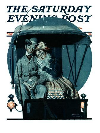 norman-rockwell-moonlight-buggy-ride-saturday-evening-post-cover-september-19-1925