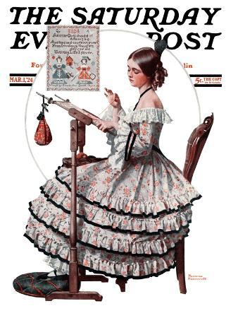 norman-rockwell-needlepoint-saturday-evening-post-cover-march-1-1924