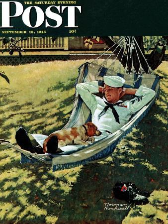 norman-rockwell-on-leave-saturday-evening-post-cover-september-15-1945