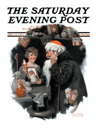 norman-rockwell-playing-santa-saturday-evening-post-cover-december-9-1916