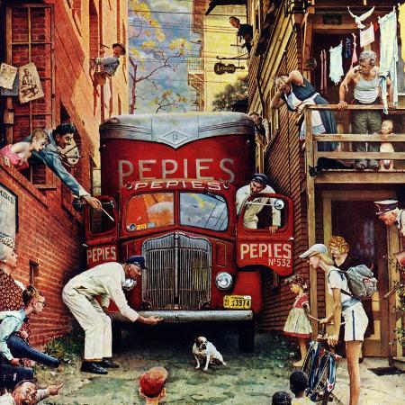 norman-rockwell-road-block-july-9-1949