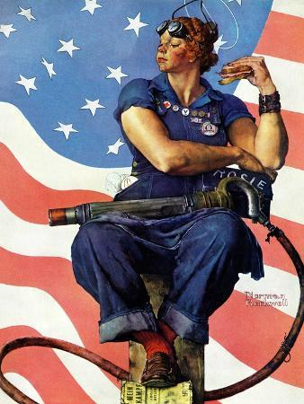 norman-rockwell-rosie-the-riveter-may-29-1943