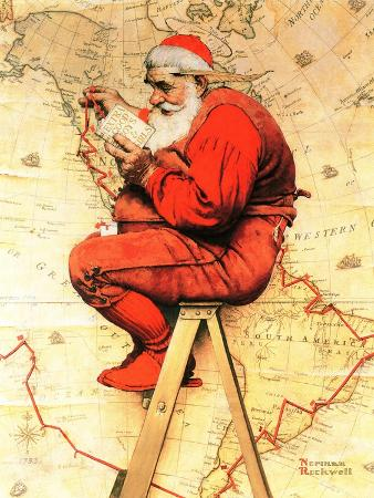 norman-rockwell-santa-at-the-map-december-16-1939