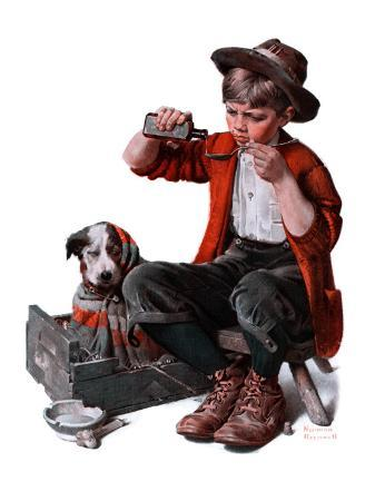 norman-rockwell-sick-puppy-march-10-1923