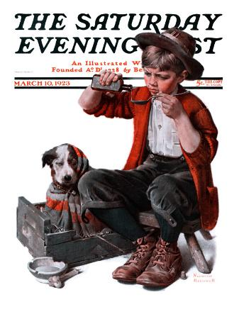 norman-rockwell-sick-puppy-saturday-evening-post-cover-march-10-1923