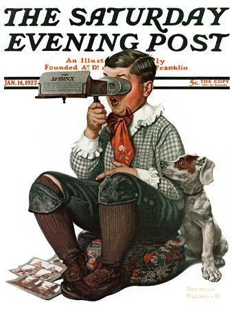 norman-rockwell-stereopticon-or-sphinx-saturday-evening-post-cover-january-14-1922