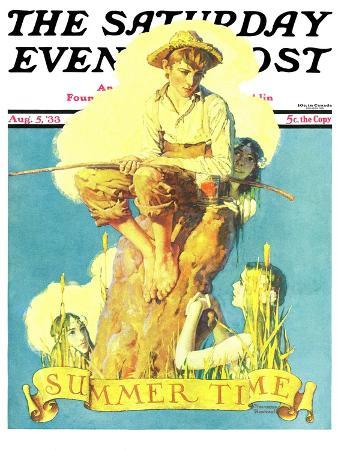 norman-rockwell-summertime-1933-saturday-evening-post-cover-august-5-1933