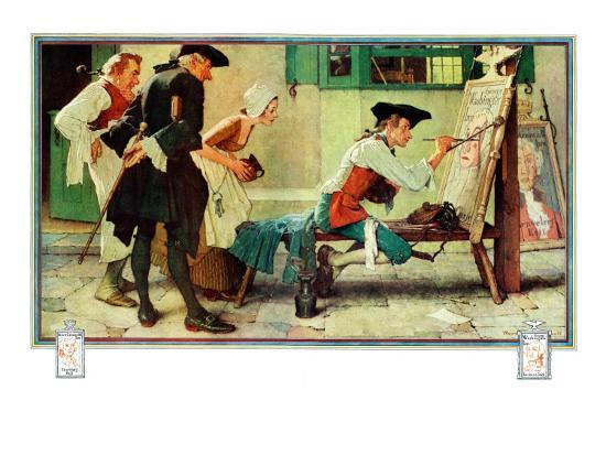 norman-rockwell-the-new-tavern-sign-february-22-1936