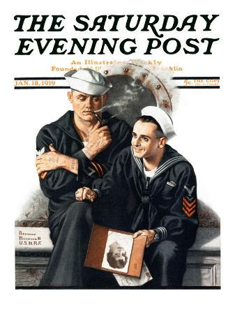 norman-rockwell-thinking-of-the-girl-back-home-saturday-evening-post-cover-january-18-1919