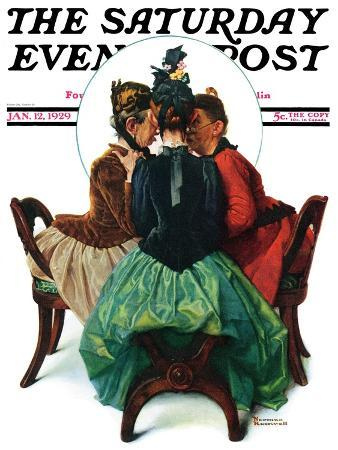 norman-rockwell-three-gossips-saturday-evening-post-cover-january-12-1929