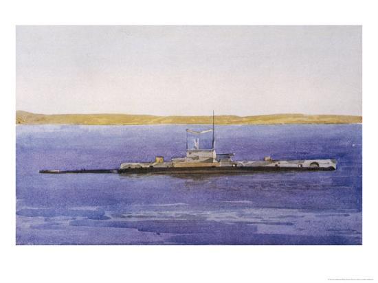 norman-wilkinson-british-submarine-e11-seen-here