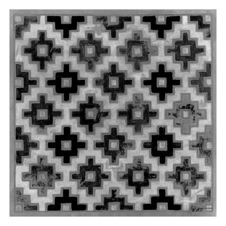 norman-wyatt-jr-mudcloth-black-and-white-ii