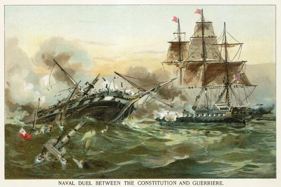 north-american-naval-duel-between-the-constitution-and-guerriere