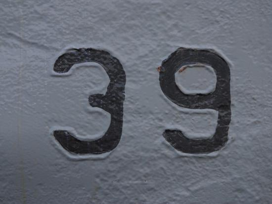 number-39-painted-onto-a-white-wall