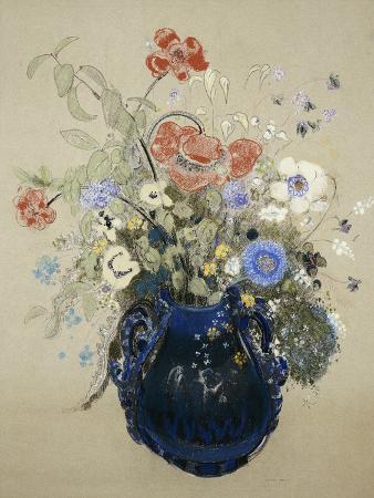 odilon-redon-a-vase-of-blue-flowers-circa-1905-08