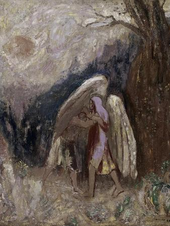 odilon-redon-jacob-wrestling-with-the-angel