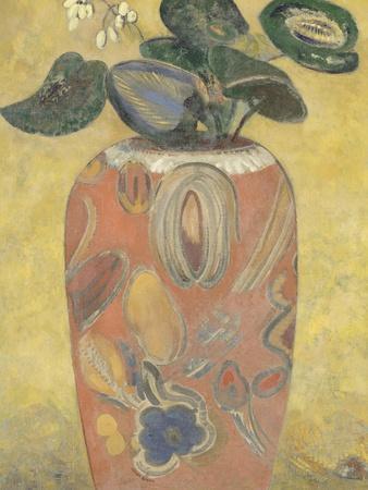 Plante verte dans une urne giclee print by odilon redon at for Plante verte