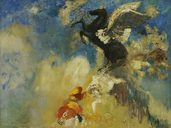 odilon-redon-the-black-pegasus-1909-1910