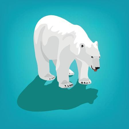 olha-bocharova-illustration-of-polar-bear-on-blue