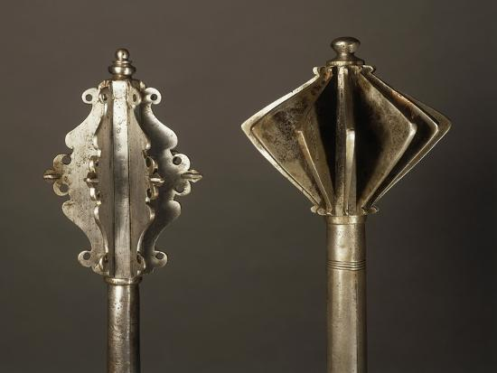 on-left-mace-in-steel-made-in-germany-in-1550-on-right-mace-in-steel-made-in-hungary