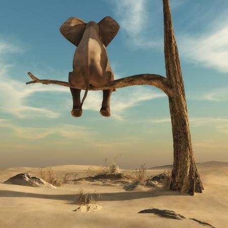 orla-elephant-stands-on-thin-branch-of-withered-tree-in-surreal-landscape-this-is-a-3d-render-illustrat