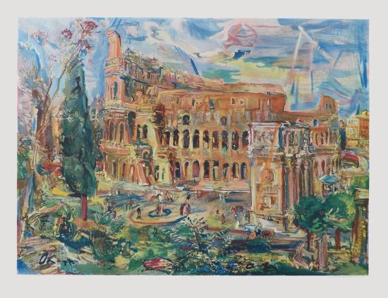 oskar-kokoschka-the-colosseum-rome
