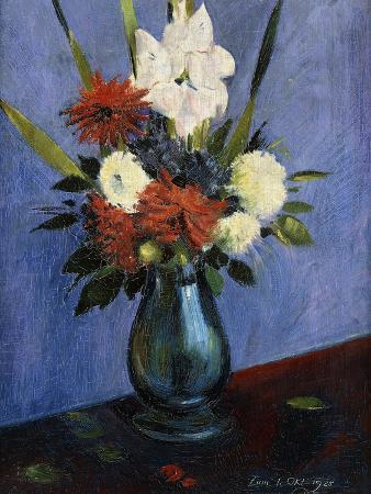 oskar-schlemmer-vase-of-flowers-with-gladiola-and-dahlias-blumenvase-mit-gladiolen-und-dahlien