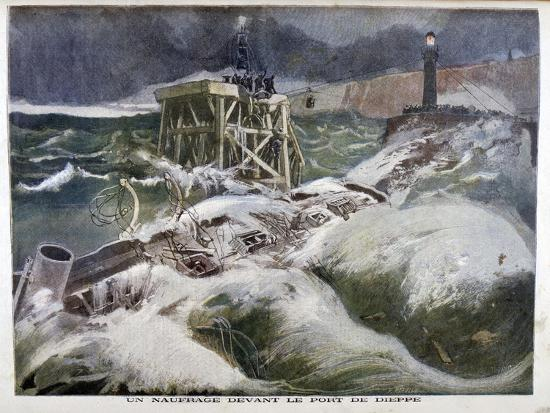 oswaldo-tofani-a-shipwreck-in-front-of-the-port-of-dieppe-1899