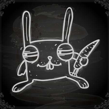 ozerina-anna-cute-hand-drawn-illustration-vintage-blackboard-texture-background