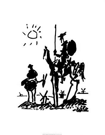pablo-picasso-don-quixote-c-1955