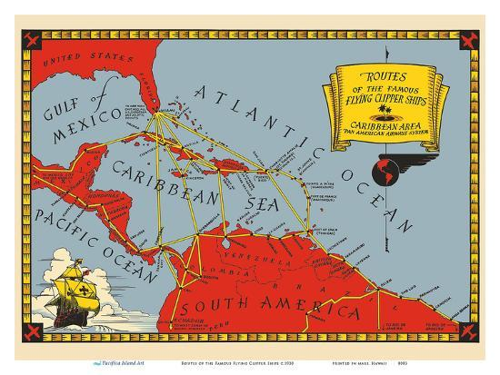 pacifica-island-art-routes-of-the-famous-flying-clipper-ships-caribbean-area