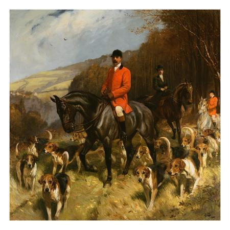 painting-of-mr-and-mrs-lewis-priestman-with-the-braes-of-derwent-hunt-by-john-charlton