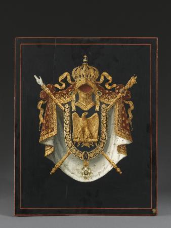 panneau-d-armoiries-aux-armes-de-napoleon-iii