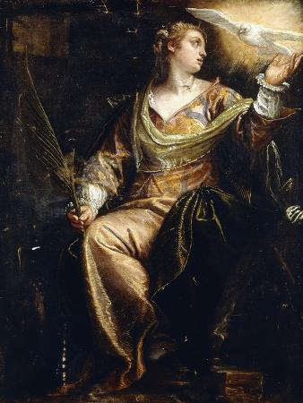 paolo-caliari-saint-catherine-of-alexandria-in-prison-the-holy-ghost-above-c-1580s