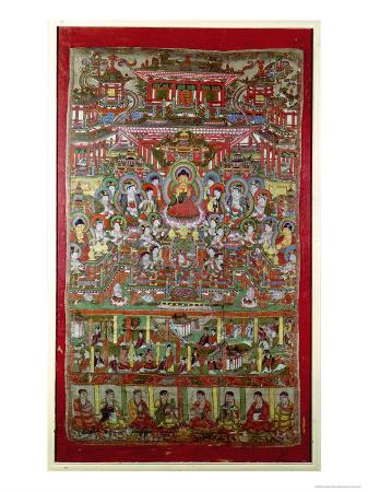 paradise-of-amitabha-from-dunhuang-gansu-province