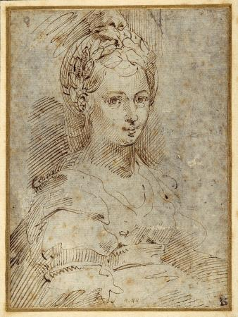 parmigianino-half-length-of-a-seated-woman