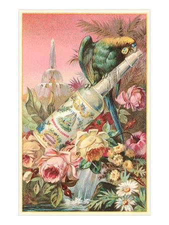 parrot-on-bottle-with-roses