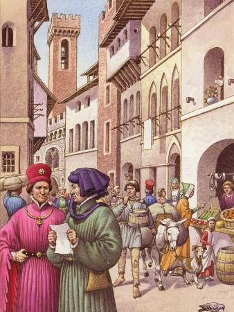 pat-nicolle-a-typical-street-scene-in-florence-in-the-early-15th-century