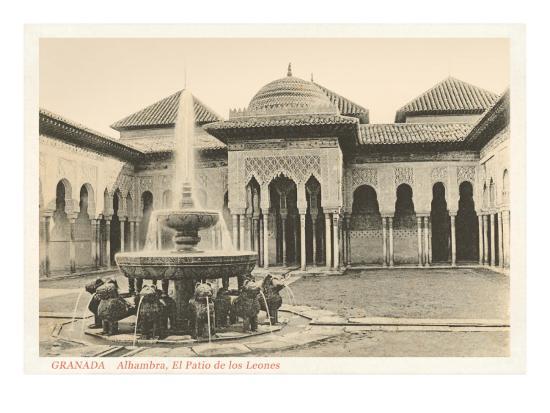 patio-of-the-lions-alhambra-granada-spain