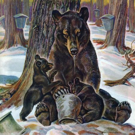 paul-bransom-bears-eating-maple-syrup-march-28-1942