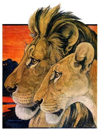 paul-bransom-lion-pair-april-27-1929