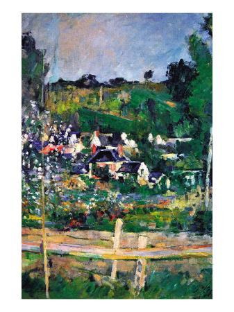 paul-cezanne-village-behind-the-fence