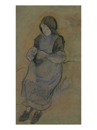 paul-gauguin-la-petite-gardeuse-de-porcs-assise-tricotant