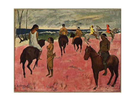 paul-gauguin-on-horseback-at-seashore-1902