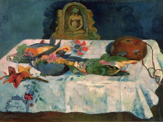 paul-gauguin-still-life-with-parrots-1902