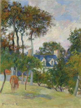 paul-gauguin-the-white-house-la-maison-blache-1885
