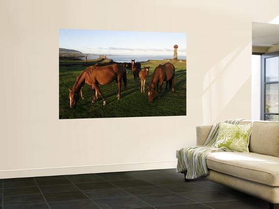 paul-kennedy-horses-grazing-in-front-of-ahu-vai-uri-tahai-and-ko-te-riku
